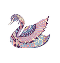 colorful swan vector image