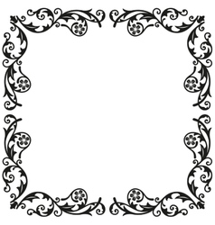 Corner elements Decorative vintage ornament for vector