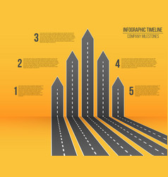 creative of 3d arrow roads map vector image