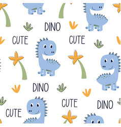 cute dinosaur pattern vector image