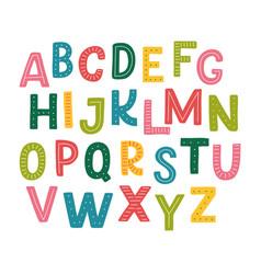 cute hand drawn alphabet vector image