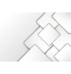 Elegant modern luxury white geometric square vector