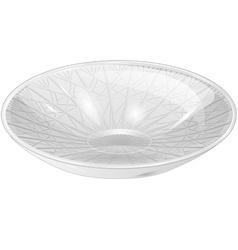 Empty white bowl vector