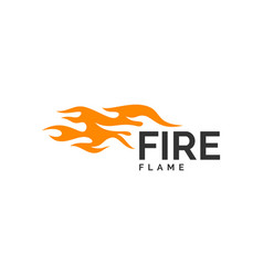 fire flame logo design hot logo template vector image