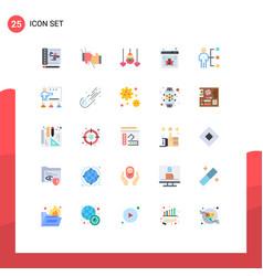 Flat color pack 25 universal symbols vector