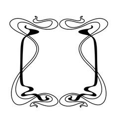 Frame with art nouveau ornament vector