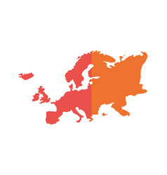 Geography europe map location design vector