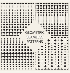 halftone seamless geometric patterns vector image
