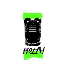 hola slogan graphic with alligator sign vector image