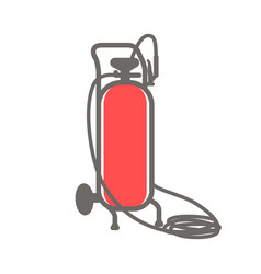 icon of gas cylinder vector image