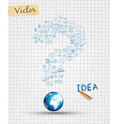 Infographic Layout for Brainstorming Concept vector
