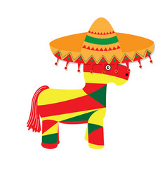 Isolated pinata with a hat icon vector