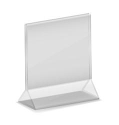 isometric acrylic business card holder plastic vector image