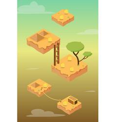 Isometric desert game asset vector