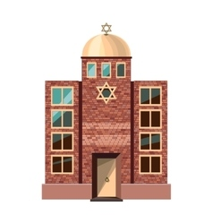 Jewish synagogue icon isolated on white background vector