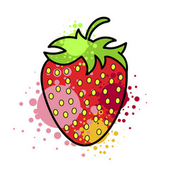 juicy strawberry tasty berry creative approach vector image