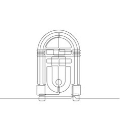 jukebox continuous line graphic vector image