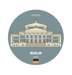 Konzerthaus in berlin germany vector