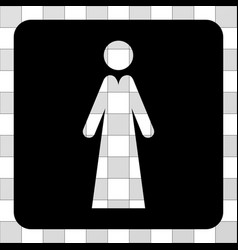 lady rounded square vector image
