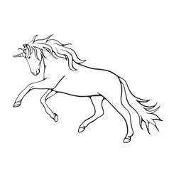 line art unicorn vector image
