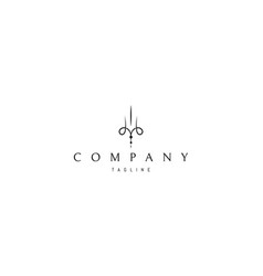 logo on which an abstract and elegant image vector image