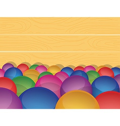 Marble ball background in a wooden box vector