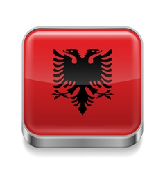 Metal icon of albania vector