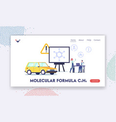 molecular formula c6h6 landing page template tiny vector image