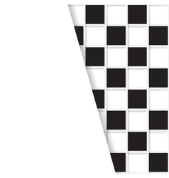 Mosaic from black and white squares vector