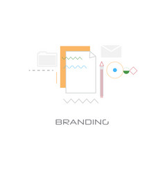 new startup business project development branding vector image