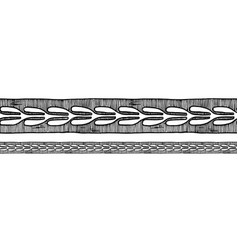 old greek border ornament vector image