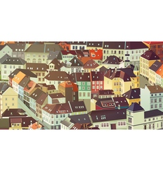 Old traditional Europe city vector
