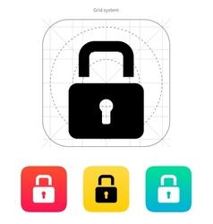Padlock close icon vector image