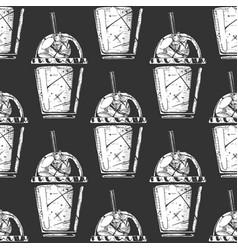 pattern with milkshake vector image