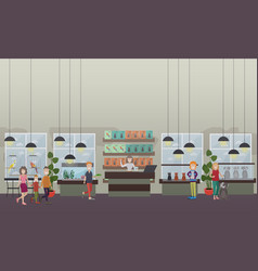 pet shop concept flat vector image