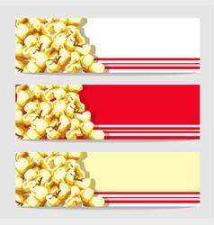 Popcorn banner vector
