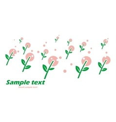 Primitive postcard with spring flowers vector