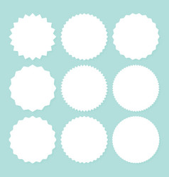 promo sale starburst or sticker sunburst label vector image