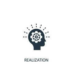 Realization icon simple element vector