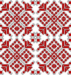 Red and black ethnic ornaments over white vector image