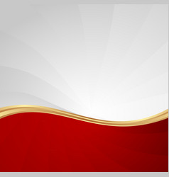 Red and white abstract wavy background vector