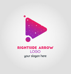 right arrow business logo template using double vector image