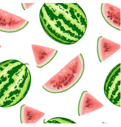 seamless pattern with sweet watermelon vector image