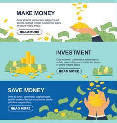 set horizontal banner for business banking vector image