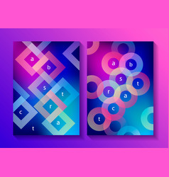set minimalistic design covers posters vector image