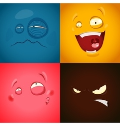 Set with cute cartoon emotions vector image