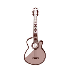 shadow guitar cartoon vector image