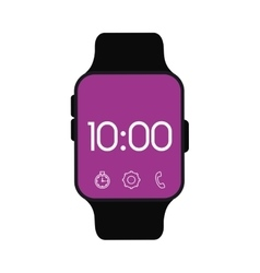 smart watch wearable technology accessorie vector image