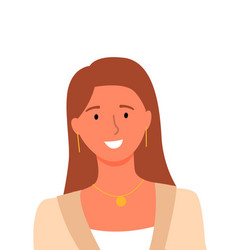 smiling woman userpic online consultant helper vector image