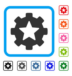 star favorites options gear framed icon vector image